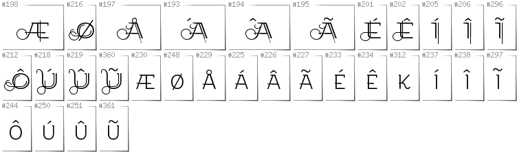 Greenlandic - Additional glyphs in font EtharnigSc