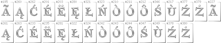 Kashubian - Additional glyphs in font FoglihtenNo03