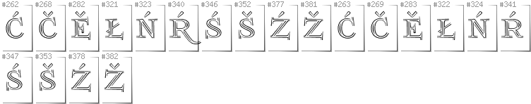Lower Sorbian - Additional glyphs in font FoglihtenNo03