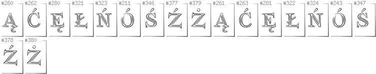 Polish - Additional glyphs in font FoglihtenNo03