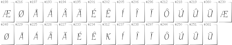 Greenlandic - Additional glyphs in font GarineldoSC