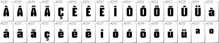 Portugese - Additional glyphs in font Mikodacs
