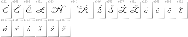 Lower Sorbian - Additional glyphs in font Promocyja