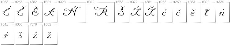 Upper Sorbian - Additional glyphs in font Promocyja