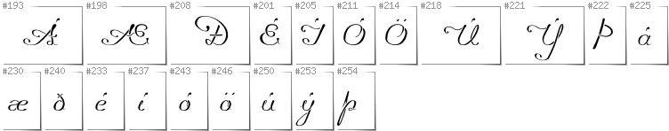 Icelandic - Additional glyphs in font Promocyja