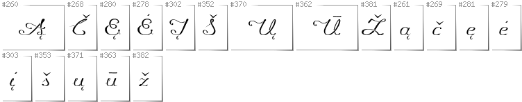Lithuanian - Additional glyphs in font Promocyja