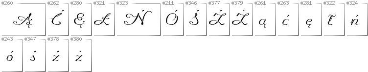 Polish - Additional glyphs in font Promocyja