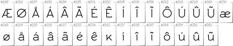 Greenlandic - Additional glyphs in font Rawengulk