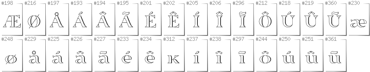Greenlandic - Additional glyphs in font Sortefax