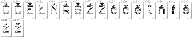 Upper Sorbian - Additional glyphs in font Sportrop