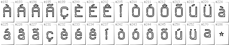 Portugese - Additional glyphs in font Sportrop