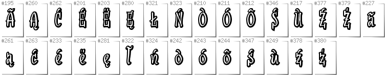 Kashubian - Additional glyphs in font SudegnakNo2