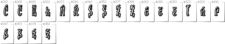 Lower Sorbian - Additional glyphs in font SudegnakNo2