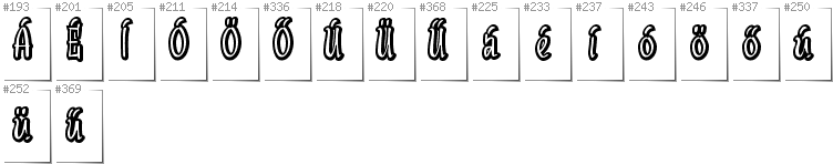 Hungarian - Additional glyphs in font SudegnakNo2