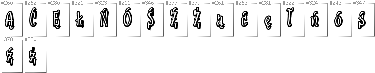Polish - Additional glyphs in font SudegnakNo2