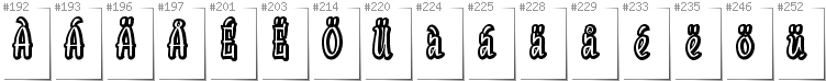Swedish - Additional glyphs in font SudegnakNo2