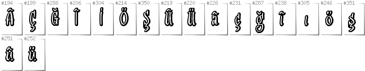 Turkish - Additional glyphs in font SudegnakNo2