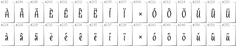 Dutch - Additional glyphs in font SudegnakNo3