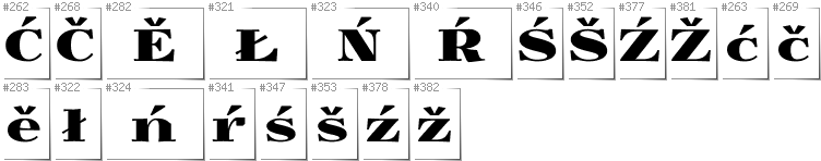 Lower Sorbian - Additional glyphs in font Yokawerad
