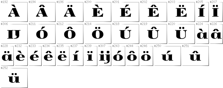 Dutch - Additional glyphs in font Yokawerad