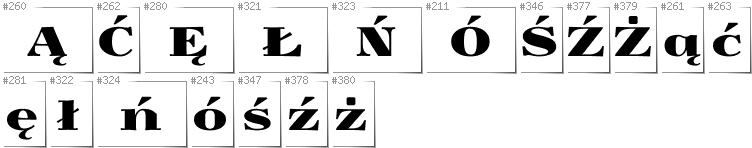Polish - Additional glyphs in font Yokawerad