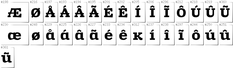 Greenlandic - Additional glyphs in font Zantroke