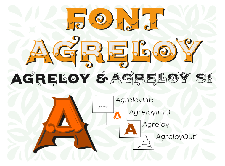 Font Agreloy made by gluk
