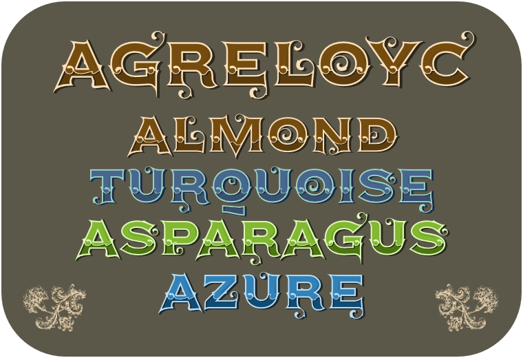 Color font Agreloyc made by gluk