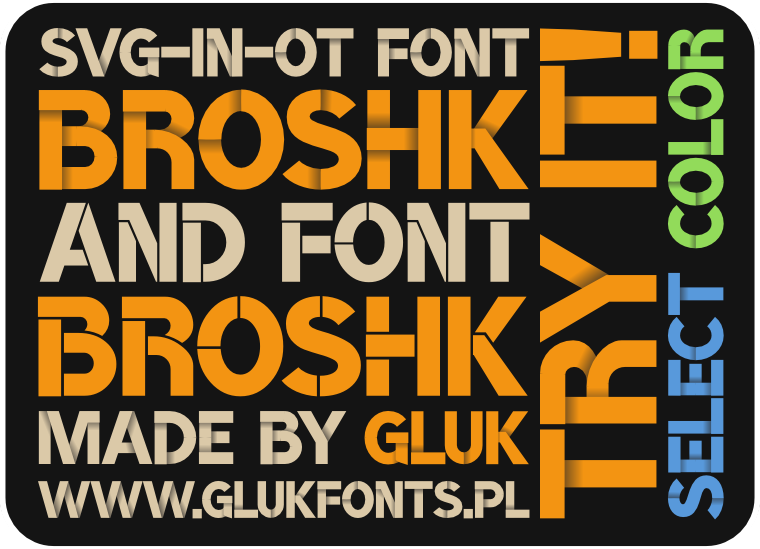 Font BroshK made by gluk