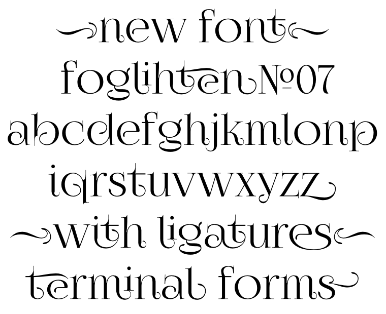 Font FoglihtenNo07 made by gluk