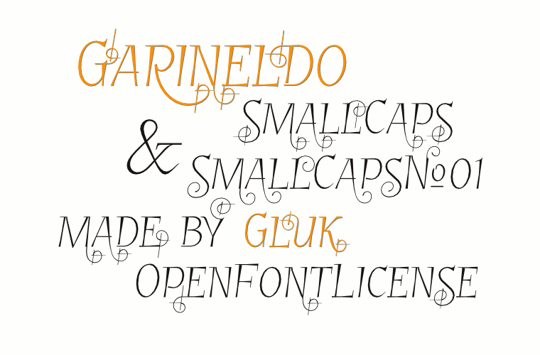 font Garineldo SmallCaps and GarineldoSCNo01  by gluk