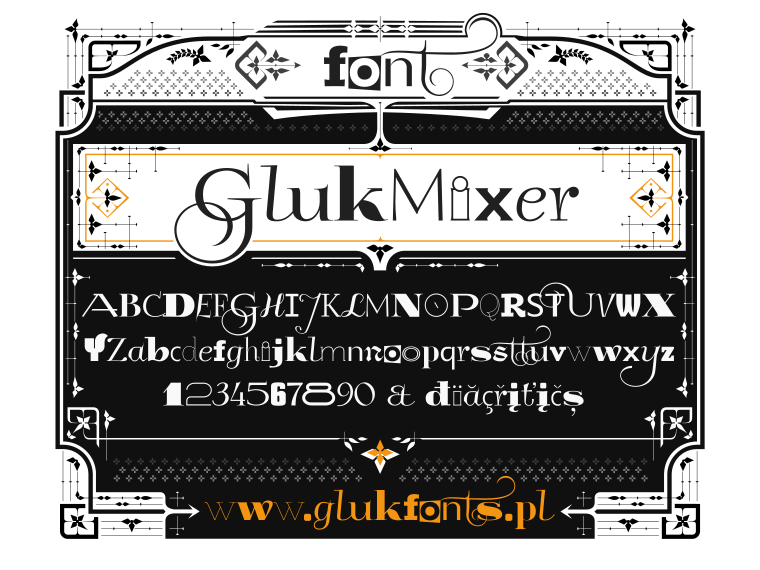 Font GlukMixer made by gluk
