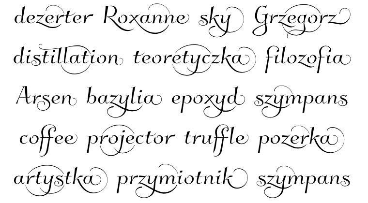 Kleymissky with contextual alternates