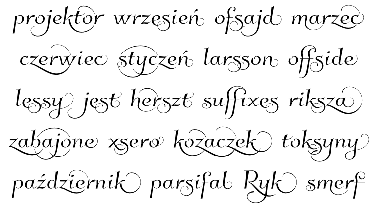 Font Kleymissky examples