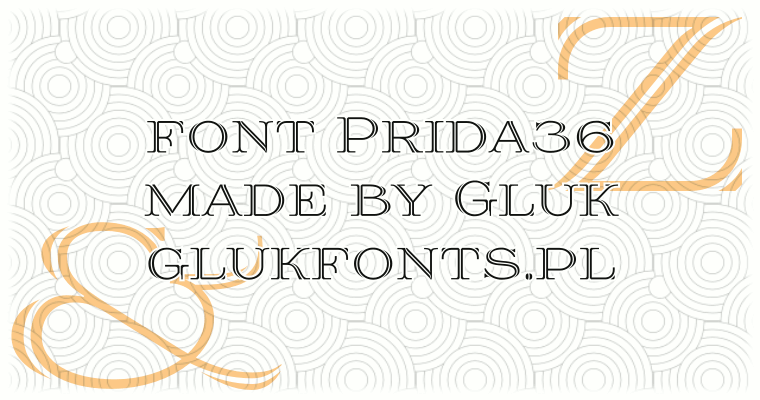 Font Prida36 made by gluk