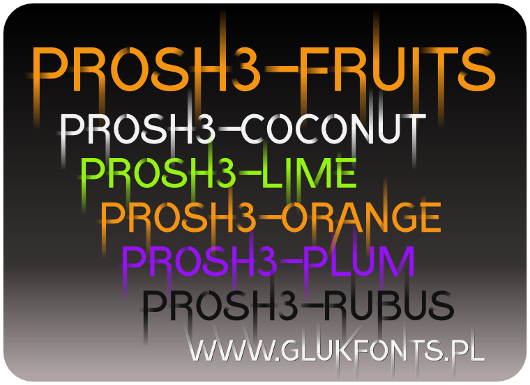 Opentype-SVG font Prosh3-fruits made by gluk
