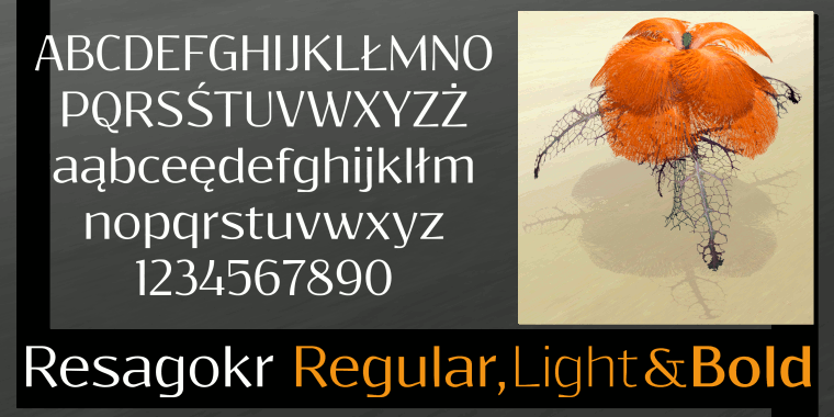 Font Resagokr made by gluk