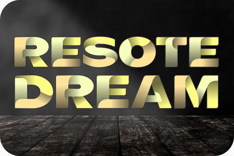 Font ResotE-Dream made by gluk