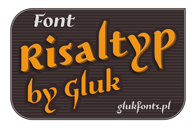 Free font Risaltyp made by gluk