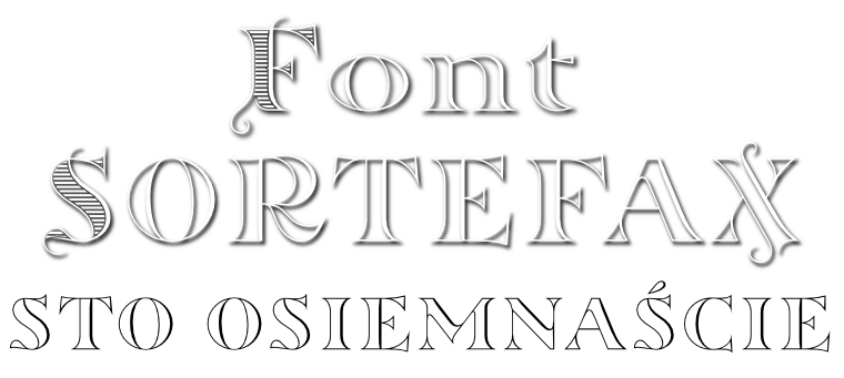 Font Sortefax by gluk
