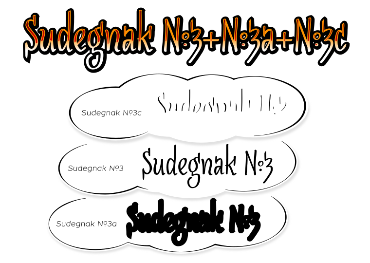 Font SudegnakNo3 made by gluk
