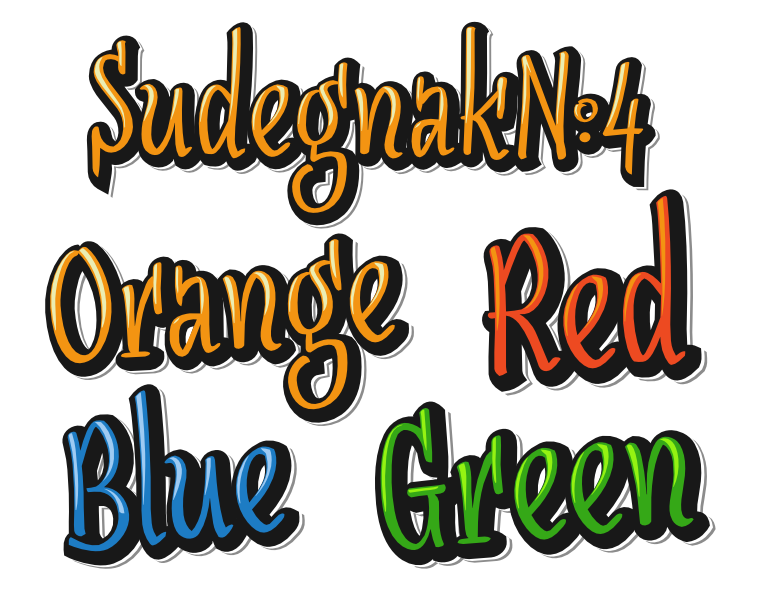 Font SudegnakNo4 made by gluk