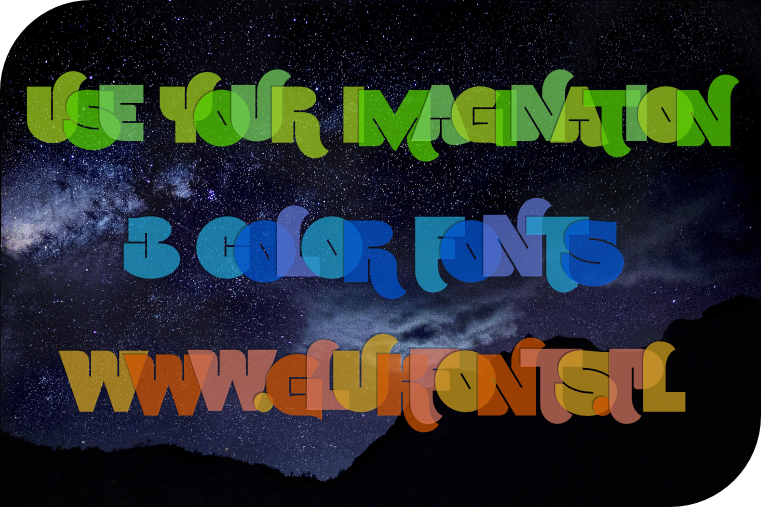 color fonts UseYourImagination made by gluk