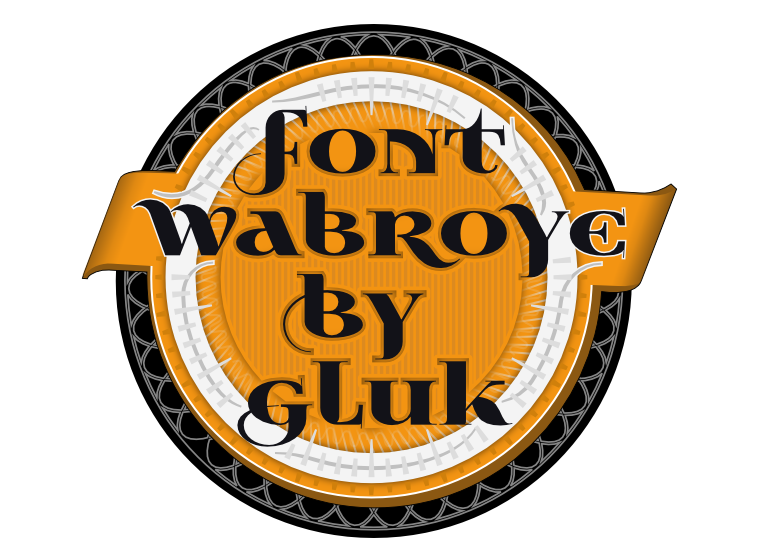 Font Wabroye made by gluk