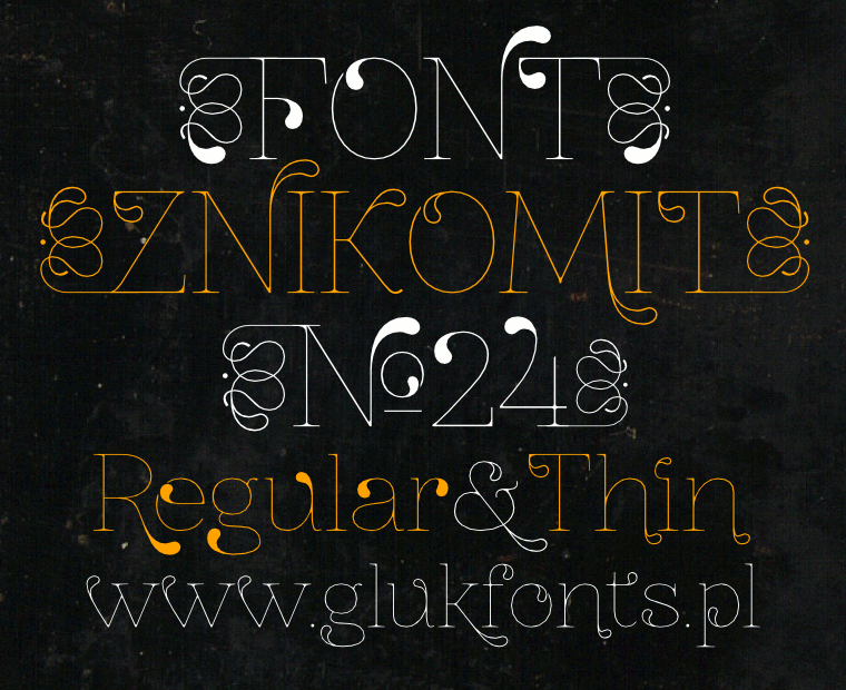 Font ZnikomitNo24 with Ornaments