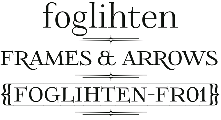 Font FoglihtenFr01 made by gluk
