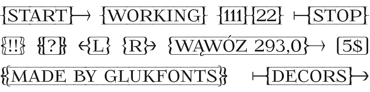 Font FoglihtenFr01 - Arrows made by gluk