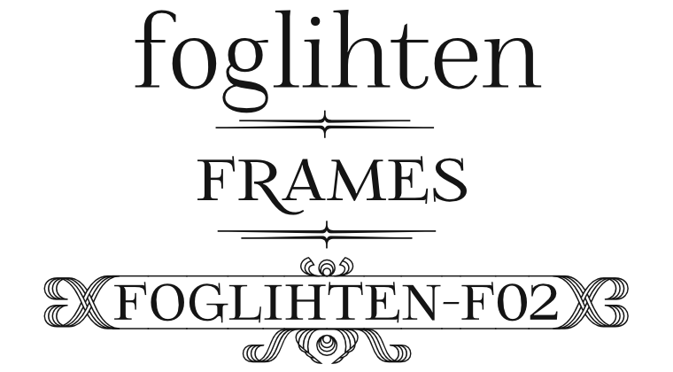 Font FoglihtenFr02 made by gluk