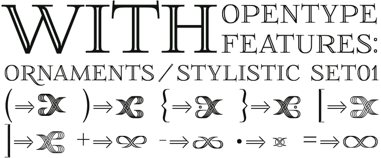 Font FoglihtenNo01 Ornaments by gluk