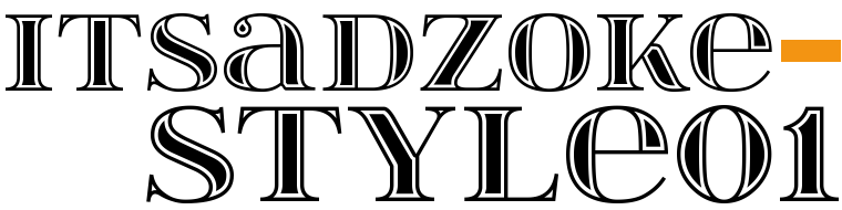 Font ItsadzokeS01 made by gluk